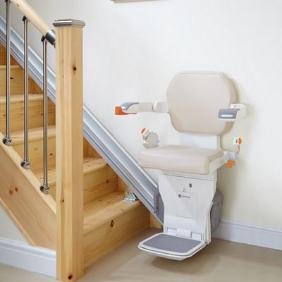 Monte-escaliers droits